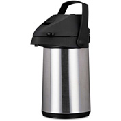 Coffee Pro CPAP22 - Brew/Serve Insulated Airpot, Handle, 2.2 L, Stainless Steel