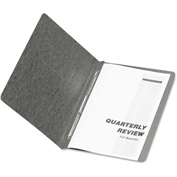 """Oxford® PressGuard Coated Report Cover, Prong Clip, Letter, 3"""" Capacity, Black"""