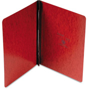 """Oxford® PressGuard Coated Report Cover, Prong Clip, Letter, 3"""" Capacity, Red"""