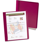 Oxford® Extra-Wide Clear Front Report Covers, Letter Size, Red, 25/Box
