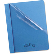 "Oxford® Clear Front Report Cover, 3 Fasteners, Letter, 1/2"" Capacity, Blue, 25/Box"