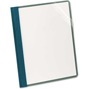 Earthwise® by Oxford® Recycled Clear Front Report Covers, Letter Size, Blue, 25/Box