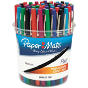 Paper Mate® Flair Felt Tip Marker Pen, Assorted Ink, Medium, 48 Pens/Set