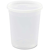 "Microwavable Container Combo 4-1/2"" Diameter 32 Oz - 240 Pack"