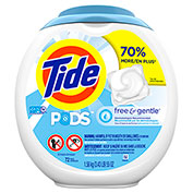 Tide Free & Gentle Laundry Detergent Pods, 72/Pack, 1/Case - 037000898924