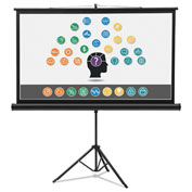 Quartet® Wide Format Tripod Base Projection Screen, 45 x 80, White
