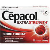Cepacol® Maximum Strength Numbing Lozenge, Cherry, 16/Box