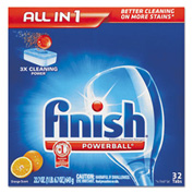 Finish Powerball Dishwasher Tabs Orange, 8/Case - RAC77039