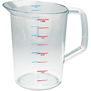 Rubbermaid Commercial Bouncer Measuring Cup, 4 Qt., Clear