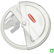 """Rubbermaid® Commercial ProSave Sliding Lid, 20 3/4"""" x 5"""" x 20 3/4"""", White/Clear"""