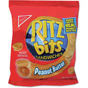 Nabisco Ritz Bits, Peanut Butter, 1.5 Oz, 60/Carton