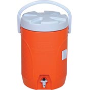 "Rubbermaid FG16830111 - Beverage Cooler, 3 Gallons, 12-1/2"" Dia. x 16-3/4""H, Orange"