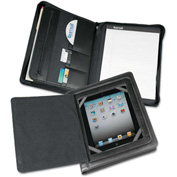 Samsill® Carrying Case, 70600, iPad/Tablet, W/Zipper Padholder, Vinyl, Black