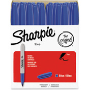 Sharpie® Permanent Marker, Fine Point, Blue, 36/Pack