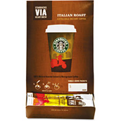 Starbucks® Italian Roast Via Ready Brew Coffee, Regular, Arabica Beans, 0.12 oz., 50/Box