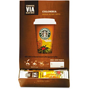 Starbucks® Colombia Medium Via Ready Brew Coffee, Regular, 0.12 oz., 50/Box
