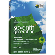 Seventh Generation Free & Clear Automatic Dishwasher Powder, 45oz Box 12 Case SEV22150CT