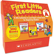 Scholastic First Little Readers Level A, 100 books, teaching guide, PreK-2