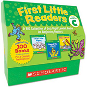 Scholastic First Little Readers Level C, 100 books, teaching guide, PreK-2
