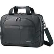 "Samsonite® Perfect Fit Adjustable Laptop System, 16-1/2 x 4-3/4 x 12"", Black"