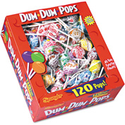 Dum Dum Pops, Assorted Flavors, Individually Wrapped, 120/Box