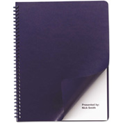 Swingline™ GBC® Leather-Look Binding System Covers, 11-1/4 x 8-3/4, Navy, 50 Sets/Pack