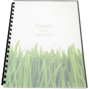 Swingline™ GBC® 100% Recycled Poly Binding Cover, 11 x 8-1/2, Frost, 25/Pack