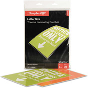 Swingline™ GBC® Laminating Pouches, 3 mil, 9 x 11 1/2, 25/Pack