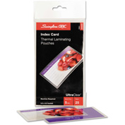 Swingline™ GBC® Laminating Pouches, 5 mil, 5 1/2 x 3 1/2, Index Card Size, 25/Pack