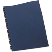 Swingline™ GBC® Linen Textured Binding System Covers, 11 x 8-1/2, Navy, 200/Box