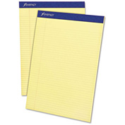 "Esselte® Evidence Pad, 8-1/2"" x 11-3/4"", Narrow Ruled, Canary, 50 Sheet/Pad, 12 Pads/Pack"