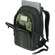 "Targus® Spruce EcoSmart Backpack 17"", 19 1/2 x 13 x 6 3/4, Black"
