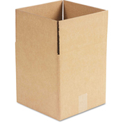 """General Supply Fixed Depth Shipping Boxes, Brown Corrugated, 10""""L x 10""""W x 10""""H, 25/BUNDLE"""