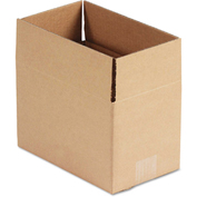 "General Supply Fixed Depth Shipping Boxes, Brown Corrugated, 10""L x 6""W x 6""H, 25/BUNDLE"