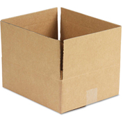 """General Supply Fixed Depth Shipping Boxes, Brown Corrugated, 12""""L x 10""""W x 4""""H, 25/BUNDLE"""