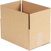 """General Supply Fixed Depth Shipping Boxes, Brown Corrugated, 12""""L x 8""""W x 6""""H, 25/BUNDLE"""