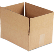"General Supply Fixed Depth Shipping Boxes, Brown Corrugated, 12""L x 9""W x 4""H, 25/BUNDLE"