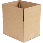 "General Supply Fixed Depth Shipping Boxes, Brown Corrugated, 15""L x 12""W x 10""H, 25/BUNDLE"
