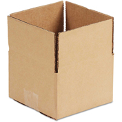 "General Supply Fixed Depth Shipping Boxes, Brown Corrugated, 16""L x 12""W x 4""H, 25/BUNDLE"