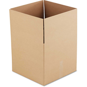 "General Supply Fixed Depth Shipping Boxes, Brown Corrugated, 18""L x 18""W x 16""H, 15/BUNDLE"