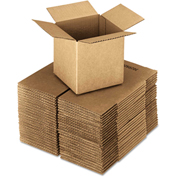 "General Supply Fixed Depth Shipping Boxes, Brown Corrugated, 4""L x 4""W x 4""H, 25/BUNDLE"