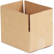 "General Supply Fixed Depth Shipping Boxes, Brown Corrugated, 8""L x 6""W x 4""H, 25/BUNDLE"