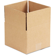 "General Supply Fixed Depth Shipping Boxes, Brown Corrugated, 8""L x 8""W x 6""H, 25/BUNDLE"