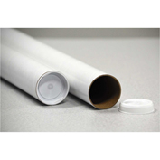 """General Supply Round Mailing Tubes, 12""""L x 2"""" Dia., White, 25/PACK"""