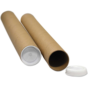 """General Supply Round Mailing Tubes, 15""""L x 3"""" Dia., White, 25/PACK"""