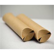 "General Supply Snap-End Mailing Tubes, 18""L x 1-1/2"" Dia., Brown Kraft, 25/PACK"