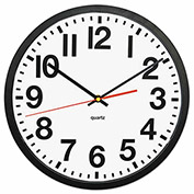 "Universal® Large Numeral Clock, 13"", Black"
