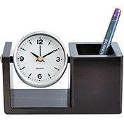 Universal One™ Executive Desk Clock, Brushed Nickel