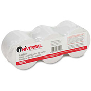 "Universal® Adding Machine/Calculator Roll, 16 lb, 1/2"" Core, 2-1/4"" x 150 ft, White, 3/Pack"