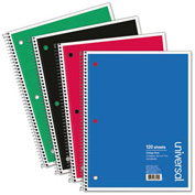 Universal® Wirebound Notebook, 8-1/2 x 11, College Ruled, 120 Sheets, Assorted Color Cover